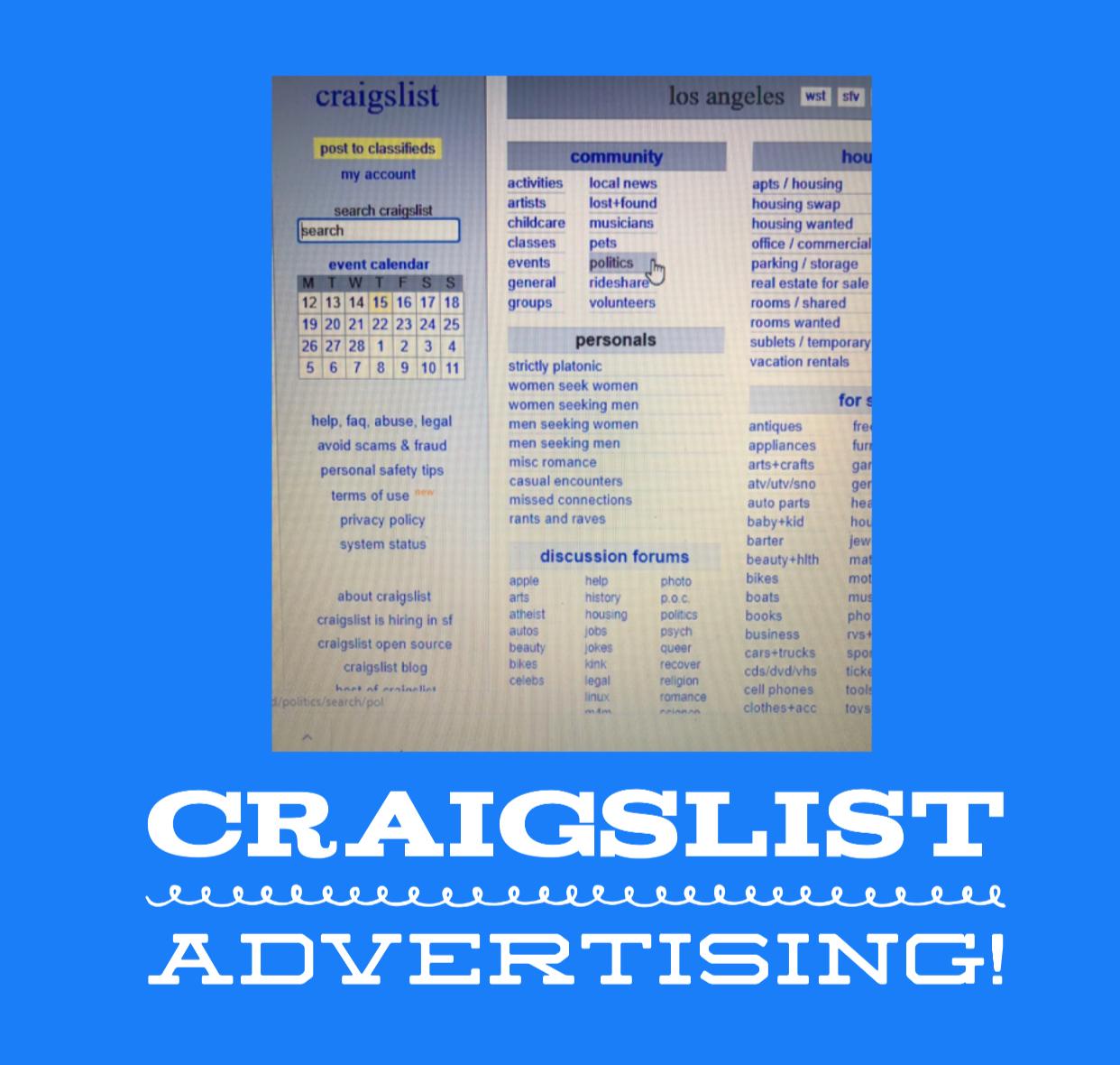 Craigslist Marketing Tips | Albie's Online Team!